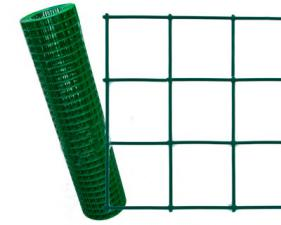 Сетка сварная с ПВХ покрытием зелёная яч.50Х50мм d=2,5мм 1,5х20м