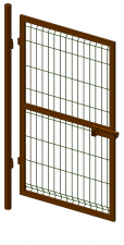 Калитка со сварной сеткой Н 1,5м L 0,8м ППК RAL 8017