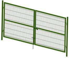Ворота со сварной сеткой Н 1,5м L 3,0м ППК RAL 6005