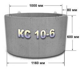 Кольцо стеновое КС10.6