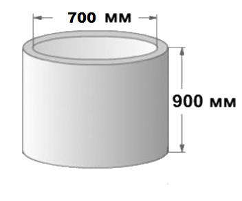 Железобетонное кольцо КС 70х90 см