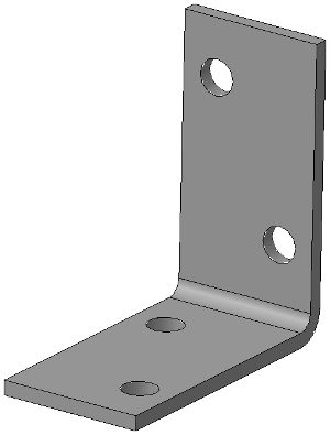 Крепёжный уголок равносторонний 40х40х20
