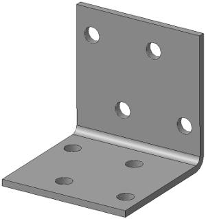 Крепёжный уголок равносторонний 40х40х40