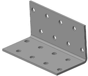 Крепёжный уголок равносторонний 40х40х80