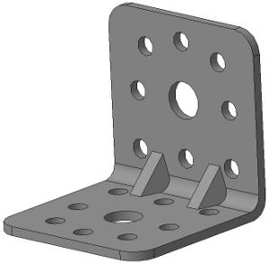 Уголок крепёжный 40х40х40 с ребром жёсткости.