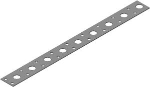 Лента стальная перфорированная ширина20х0,7 (10м)