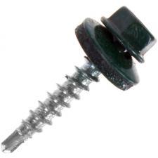 Саморезы кровельные с буром зеленые RAL 6005 5.5*19 мм