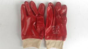 Х/Б перчатки облитые ПВХ МБС манжета на резинке