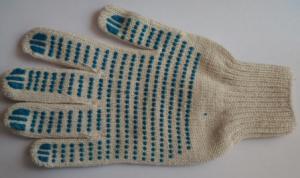 Перчатки с ПВХ Люкс белые
