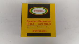 Омедненная сварочная проволока FARINA D=0.8мм катушка 5кг