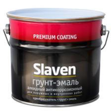 Грунт-эмаль Slaven быстросохнущая антикоррозионная ( красно-коричневыйй ) (3.2кг)