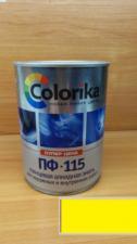 Эмаль ПФ-115 Colorika 0.8 (лимонная)