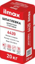 Шпатлевка Цементная стартовая ilmax 6420 20кг (серая)
