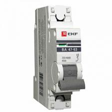 Выключатель автоматический 1п 6А C 4,5кА ВА 47-63 PROxima (mcb4763-1-06C-pro) PROxima EKF