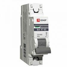 Выключатель автоматический 1п 10А C 4,5кА ВА 47-63 PROxima (mcb4763-1-10C-pro) PROxima EKF