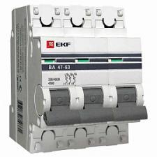 Выключатель автоматический 3п 25А C 4,5kA ВА 47-63 PROxima (под опломбировку) EKF