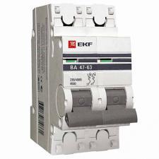 Выключатель автоматический 2п 40А C 4,5кА ВА 47-63 PROxima (под опломбировку) EKF