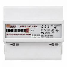 Счетчик электроэнергии трехфазный однотарифный НЕВА 303 1SO 5-60А .3230400 V DIN ОУ Тайпит