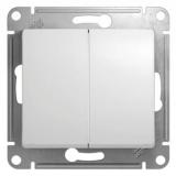 GLOSSA белый Выключатель двухклавишный