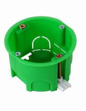 Коробка установочная скрытой установки d68мм глубина 44мм для полых стен пластиковые лапки Хегель