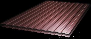 Профнастил С-8 1,20х1,80 м, толщина 0,35 мм коричневый (RAL 8017)