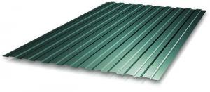 Профнастил С-8 1,20х1,80 м, толщина 0,35 мм зеленый (RAL 6005)