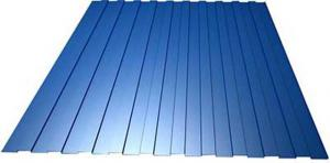 Профнастил С-8 1,20х1,80 м, толщина 0,35 мм синий (RAL 5005)