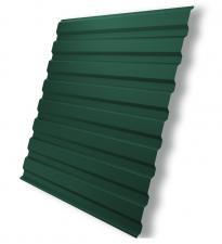 Профнастил С-20 1.15х2 м толщина 0.35 мм зеленый (RAL 6005)
