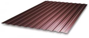 Профнастил С-8 1,20x1,50м, толщина 0,35 мм коричневый (RAL 8017)